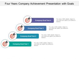 Four Years Company Achievement Presentation With Goals