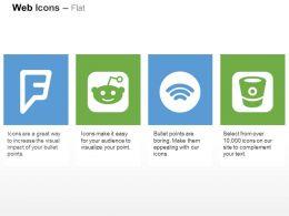 Foursquare Reddit Spotify Bitbucket Ppt Icons Graphics