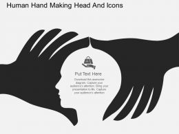 fp_human_hand_making_head_and_icons_flat_powerpoint_design_Slide01