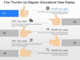 fq_five_thumbs_up_diagram_educational_data_display_powerpoint_template_Slide01