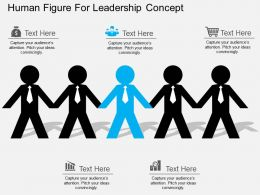 fq Human Figure For Leadership Concept Flat Powerpoint Design