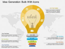 Fq Idea Generation Bulb With Icons Flat Powerpoint Design