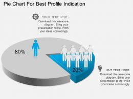 Fq Pie Chart For Best Profile Indication Powerpoint Template