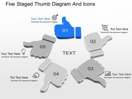 fr Five Staged Thumb Diagram And Icons Powerpoint Template