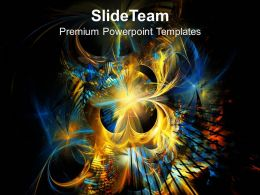 Fractal Flames Elements Technology Design PowerPoint Templates PPT Themes And Graphics 0213