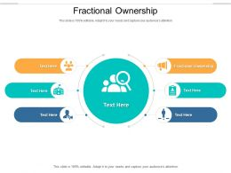 Fractional Ownership Ppt Powerpoint Presentation Layouts Brochure Cpb