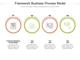 Framework Business Process Model Ppt Powerpoint Presentation Show Backgrounds Cpb