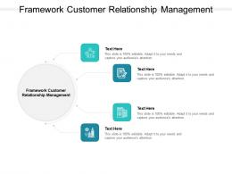 Framework Customer Relationship Management Ppt Powerpoint Presentation Layouts Grid Cpb