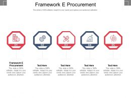 Framework E Procurement Ppt Powerpoint Presentation Styles Elements Cpb