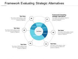 Framework Evaluating Strategic Alternatives Ppt Powerpoint Presentation Outline Guidelines Cpb