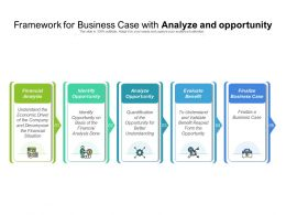 Framework For Business Case With Analyze And Opportunity