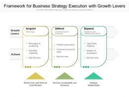 Framework For Business Strategy Execution With Growth Levers