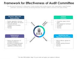 Framework For Effectiveness Of Audit Committee