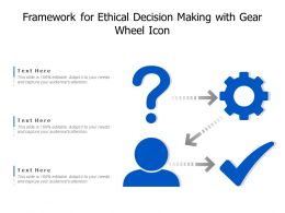 Framework For Ethical Decision Making With Gear Wheel Icon