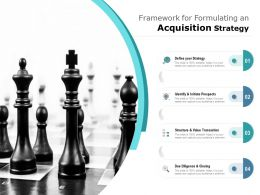 Framework For Formulating An Acquisition Strategies