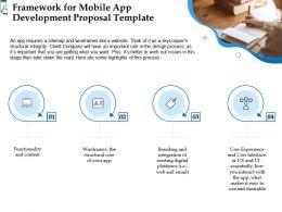 Framework For Mobile App Development Proposal Template Ppt Powerpoint Summary