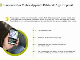 Framework For Mobile App In IOS Mobile App Proposal Ppt Powerpoint Styles