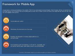 Framework For Mobile App Ppt Powerpoint Presentation File Slides