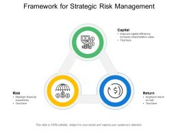 Framework For Strategic Risk Management