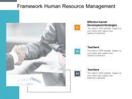 Framework Human Resource Management Ppt Powerpoint Presentation Ideas Cpb