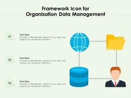 Framework Icon For Organisation Data Management