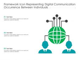 Framework Icon Representing Digital Communication Occurrence Between Individuals