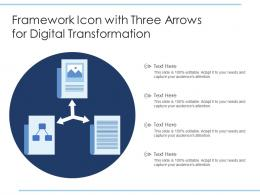 Framework Icon With Three Arrows For Digital Transformation