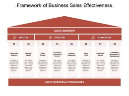 Framework Of Business Sales Effectiveness