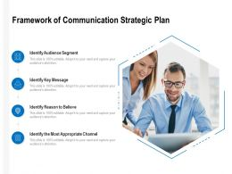Framework Of Communication Strategic Plan