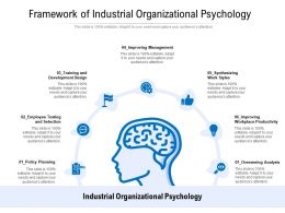 Framework Of Industrial Organizational Psychology