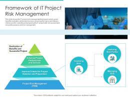 Framework Of IT Project Risk Management