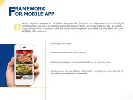 Framework Or Mobile App Ppt Powerpoint Presentation Visual Aids Summary