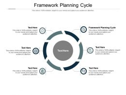 Framework Planning Cycle Ppt Powerpoint Presentation Infographic Template Brochure Cpb