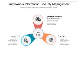 Frameworks Information Security Management Ppt Powerpoint Presentation Pictures Example Cpb