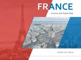 France Country And States Map Powerpoint Template