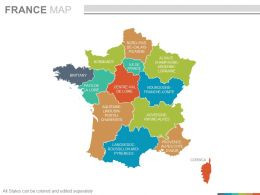 France Map Powerpoint Maps