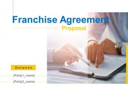 Franchise Agreement Proposal Powerpoint Presentation Slides