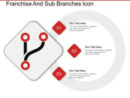 Franchise And Sub Branches Icon