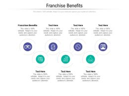 Franchise Benefits Ppt Powerpoint Presentation Styles Outfit Cpb