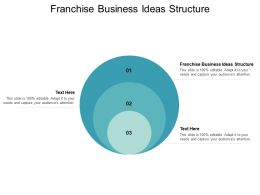 Franchise Business Ideas Structure Ppt Powerpoint Presentation Gallery Graphics Cpb