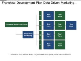 Franchise Development Plan Data Driven Marketing Demand Management