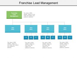 Franchise Lead Management Ppt Powerpoint Presentation Model Slide Cpb