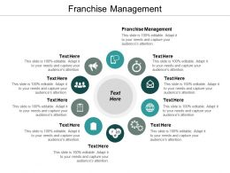 Franchise Management Ppt Powerpoint Presentation Infographics Examples Cpb