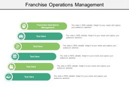 Franchise Operations Management Ppt Powerpoint Presentation Outline Infographic Template Cpb