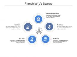 Franchise Vs Startup Ppt Powerpoint Presentation Show Skills Cpb