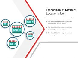 Franchises At Different Locations Icon