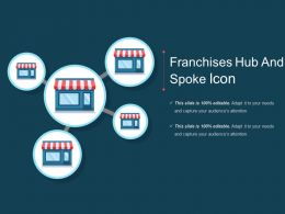 Franchises Hub And Spoke Icon