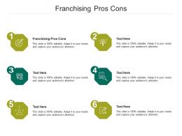 Franchising Pros Cons Ppt Powerpoint Presentation Inspiration Graphic Tips Cpb