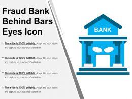 Fraud Bank Behind Bars Eyes Icon