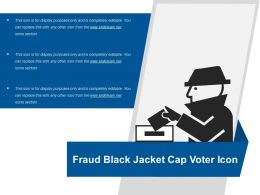 Fraud Black Jacket Cap Voter Icon